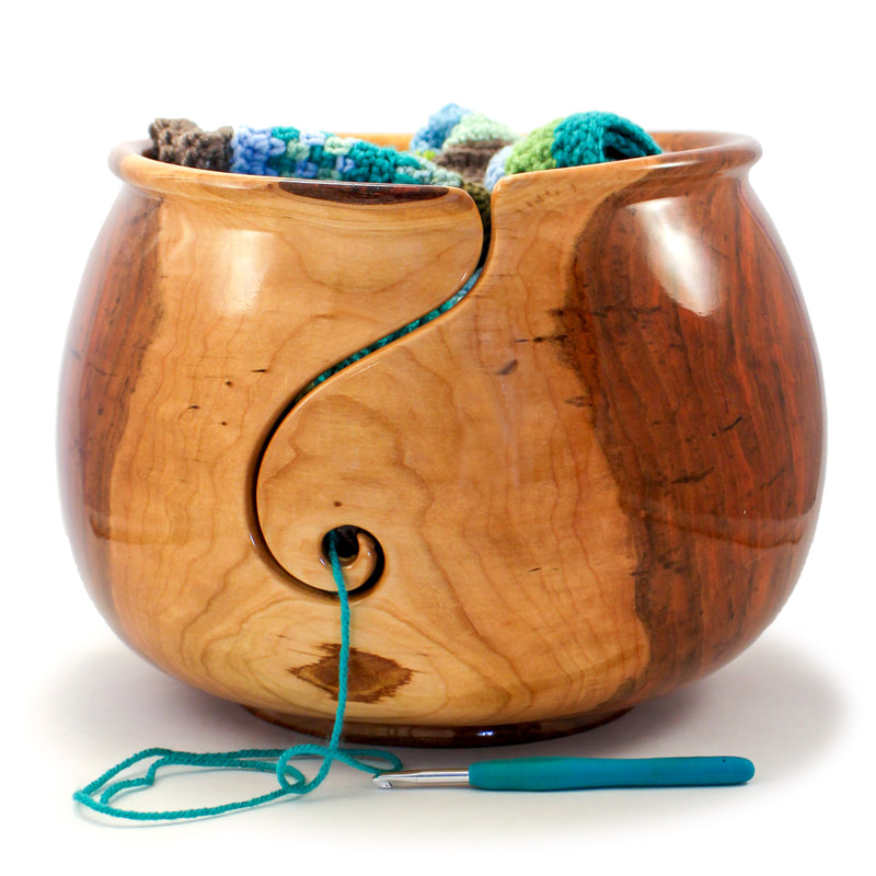 Best selling large wood yarn bowl.