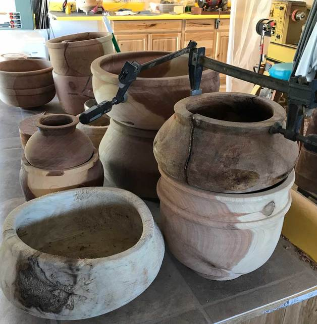 Heckathorn Yarn Bowls Drying