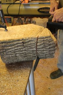 Splitting logs for wood turning blanks