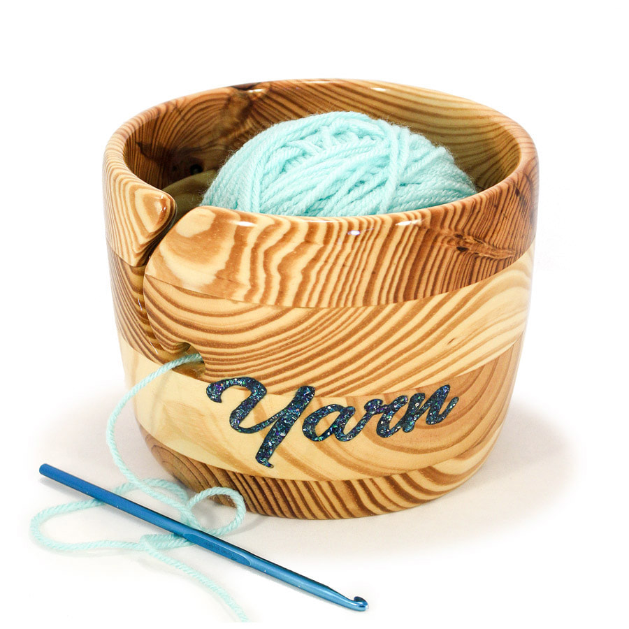 Collectible Reclaimed Hardwood Yarn Bowls _JUMBO!
